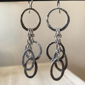 Silpada Sterling Silver Dangle Hoop Earrings